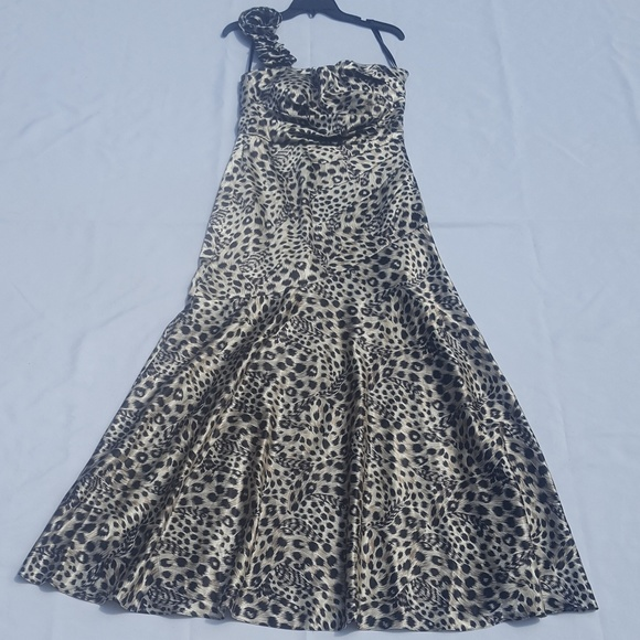 Jump Dresses | Maxi Dress 910 Leopard Print Evening Gown | Poshmark